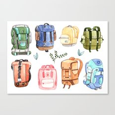 Backpacks Canvas Print