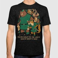 Oo-de-lally Mens Fitted Tee Tri-Black SMALL