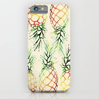 Burlap Pineapples iPhone 6 Slim Case