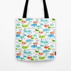 Family - Watercolor Tote Bag