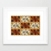 Oriental Quilt Framed Art Print