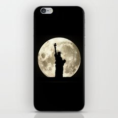 Full Moon Liberty Silhouette  iPhone & iPod Skin