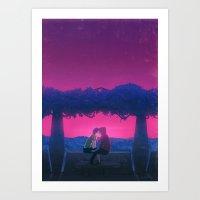 Beijo Art Print
