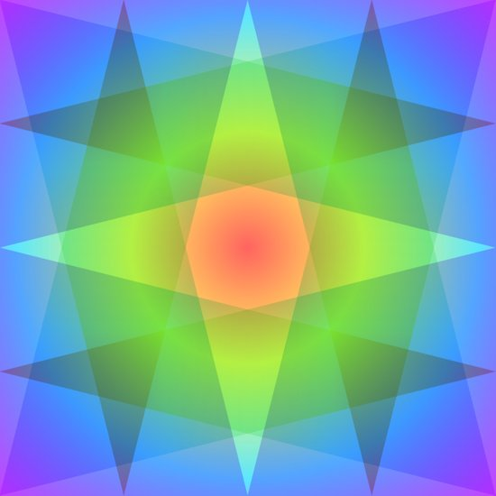 Chromatic Triangles Art Print