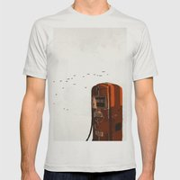 Old Fuel Pump Mens Fitted Tee Silver SMALL