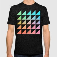 Gradient Mens Fitted Tee Tri-Black SMALL
