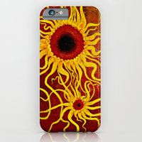 iPhone & iPod Case featuring Psychedelic Susan 001, Sunflowers by Patrickcollin