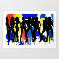 Girls, Girls, Girls Art Print