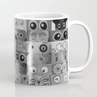 Eyes Eyes Eyes BW Mug