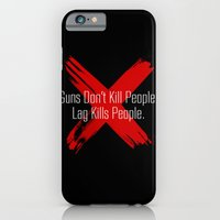 iPhone & iPod Case featuring GUNS DONT KILL PEOPLE LAG KILLS PEOPLE by BomDesignz
