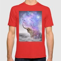 Don't Be Afraid To Dream… Mens Fitted Tee Red SMALL