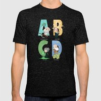 Science ABC Mens Fitted Tee Tri-Black SMALL