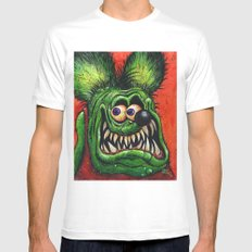 Rat Fink! Mens Fitted Tee SMALL White