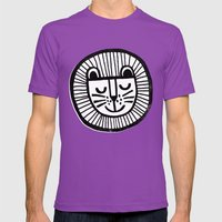 HAPPY LION Mens Fitted Tee Ultraviolet SMALL