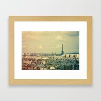 Pale Paris Framed Art Print