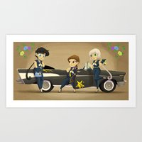Retro Sailor Starlights Art Print
