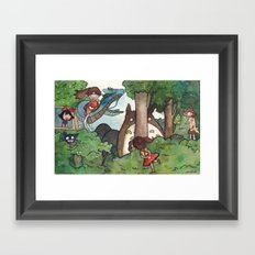 Studio Ghibli Crossover Framed Art Print