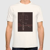 Desert Summer Mens Fitted Tee Natural SMALL