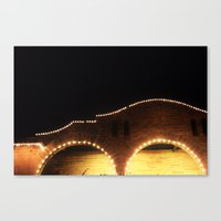 St. Augustine Night time lights Sparkle Landscape photography Evening sights Canvas Print