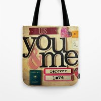 Collage Love - You & Me Tote Bag