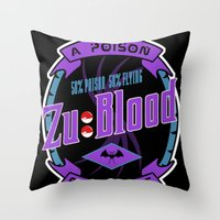 Pokemon: Zu Blood Throw Pillow
