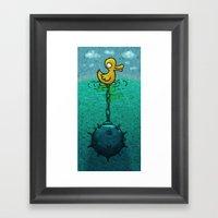 DuckBomb Framed Art Print