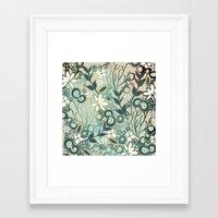 Detailed Square Of Green… Framed Art Print