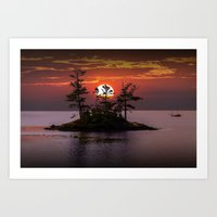 Small Island At Sunset I… Art Print