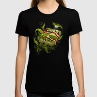 Bed Bugs Womens Fitted Tee Black SMALL
