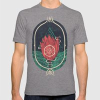 Pulsatilla Patens Mens Fitted Tee Tri-Grey SMALL