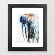 Framed Art Print featuring Walrus by Slaveika Aladjova
