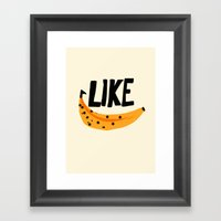 Like Banana Framed Art Print