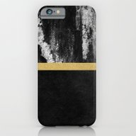 iPhone & iPod Case featuring Golden Line / Black by Elisabeth Fredriksso…