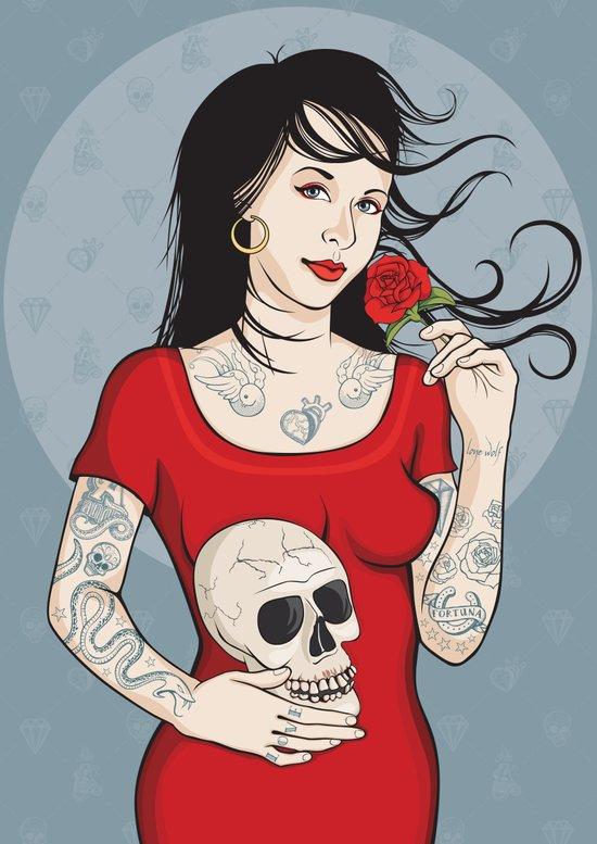 Señora Muerte Art Print