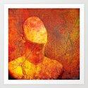 The faceless man Art Print