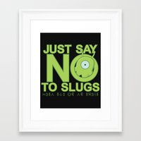 Just Say No Framed Art Print