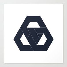 #330 Hexagon knot – Geometry Daily Canvas Print