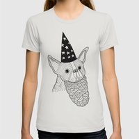 Dog Wizard Womens Fitted Tee Silver SMALL