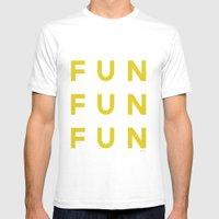 Fun Fun Fun Mens Fitted Tee White SMALL