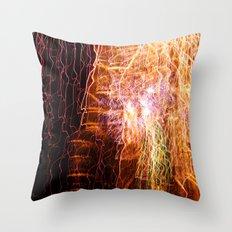 Waterfall of light Throw Pillow