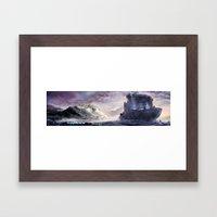 Abandoned cruiser Framed Art Print