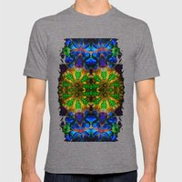 Kaleido: Blue, Green, Ye… Mens Fitted Tee Tri-Grey SMALL