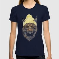 It's pretty cold outside II Womens Fitted Tee Navy SMALL