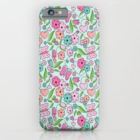 iPhone & iPod Case featuring Sweetheart Aqua by Nina May Designs