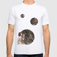 Lace Bubbles Mens Fitted Tee Ash Grey SMALL