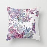 Sydney Map Throw Pillow
