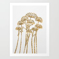 PAPERCUT FLOWER 2 Art Print