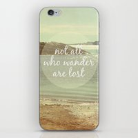 Not All Who Wander Are Lost iPhone & iPod Skin