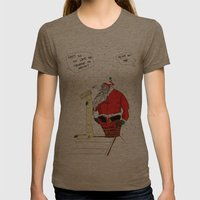 Shitty Christmas Womens Fitted Tee Tri-Coffee SMALL
