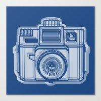 I Still Shoot Film Holga Logo - Reversed Blue Canvas Print